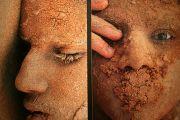 Abu Dhabi gezichten in het zand